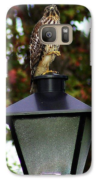 Galaxy Case featuring the photograph Hawk Dancing by B Wayne Mullins