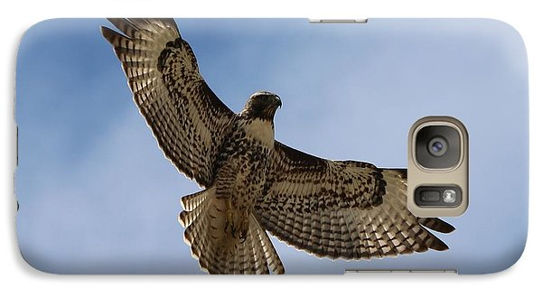 Galaxy Case featuring the photograph Hawk In Flight  by Christy Pooschke