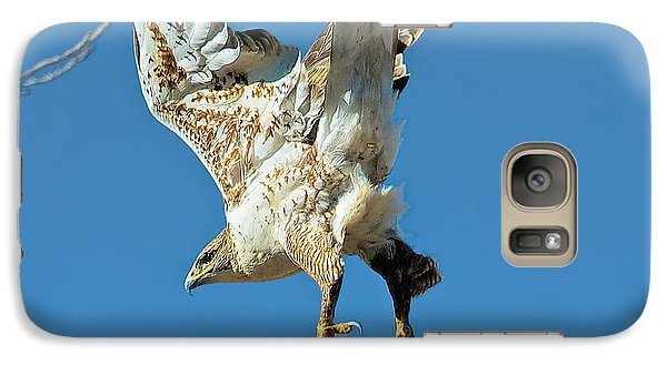 Galaxy Case featuring the photograph Hawk Lift Off by Stephen  Johnson