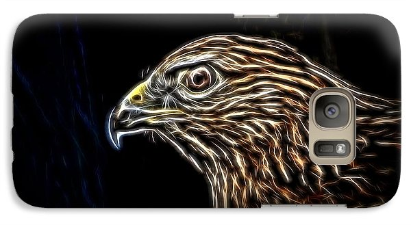 Galaxy Case featuring the photograph Hawk by Ludwig Keck
