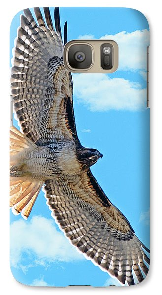 Galaxy Case featuring the photograph Hawk Overhead by Stephen  Johnson