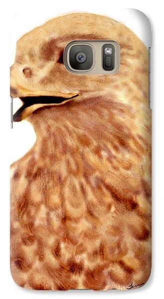 Galaxy Case featuring the digital art Hawk by Terry Frederick
