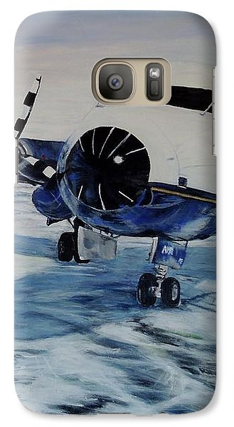 Galaxy Case featuring the painting Hawker - Airplane On Ice by Marilyn  McNish