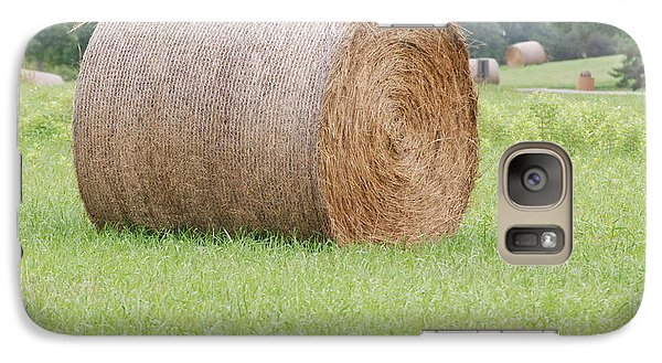 Galaxy Case featuring the photograph Hay Bale by Mark McReynolds
