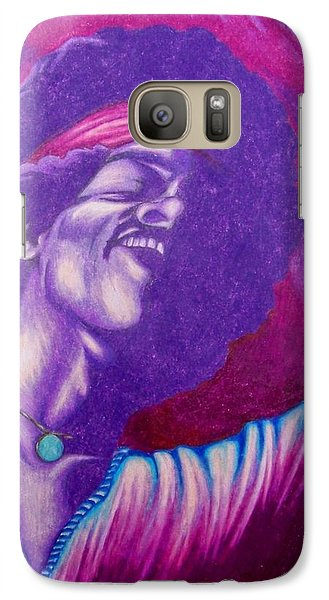 Galaxy Case featuring the drawing Haze by Michael  TMAD Finney