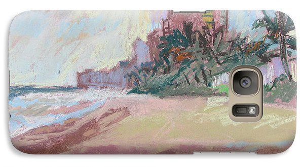 Galaxy Case featuring the painting Hazy Beach by Linda Novick