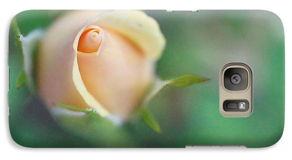Galaxy Case featuring the photograph Hazy Rosebud Squared by TK Goforth