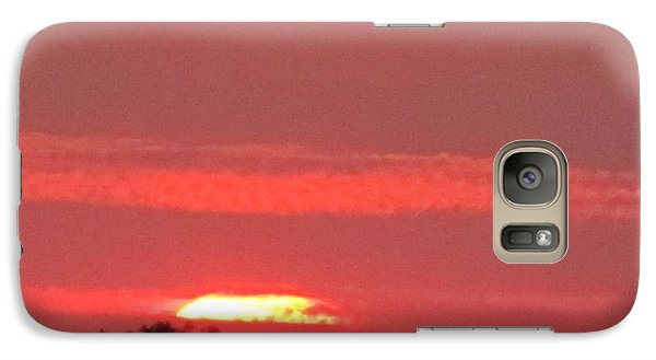 Galaxy Case featuring the photograph Hazy Sunset by Tina M Wenger