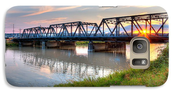 Galaxy Case featuring the photograph Hdr - Sunset On Lincoln Ave. Bridge  by Rob Green
