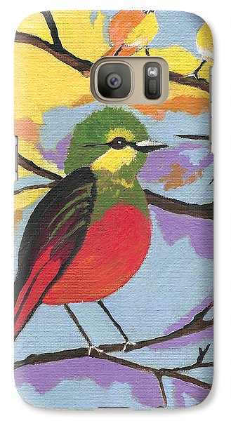 Galaxy Case featuring the painting He Aint That Tweet by Kathleen Sartoris