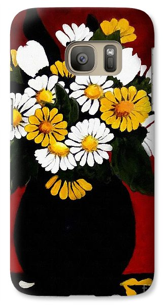 Galaxy Case featuring the painting He Loves Me... by Barbara Griffin