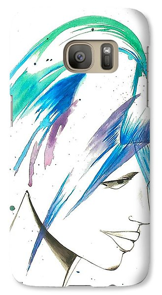 Galaxy Case featuring the painting He Loves Me He Loves Me Not by Oddball Art Co by Lizzy Love