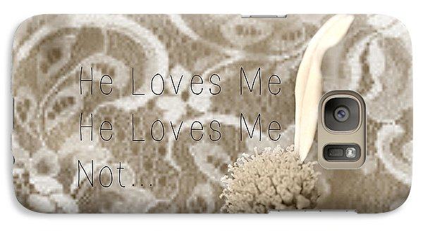 Galaxy Case featuring the photograph He Loves Me by Lila Fisher-Wenzel
