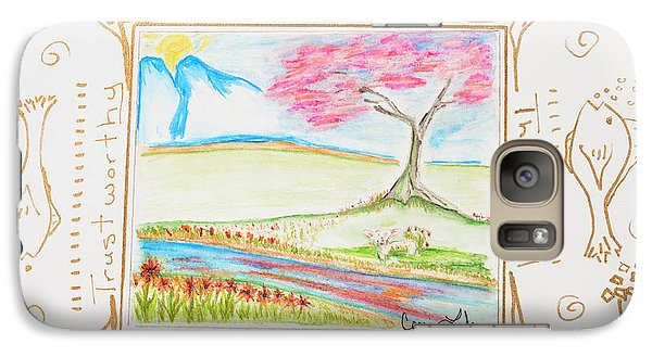 Galaxy Case featuring the painting He Restores My Soul by Cassie Sears