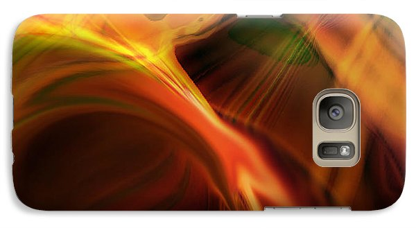Galaxy Case featuring the digital art He Said by Steve Sperry