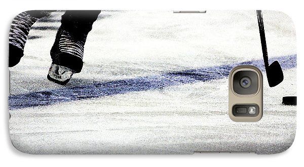 Hockey Galaxy S7 Case - He Skates by Karol Livote