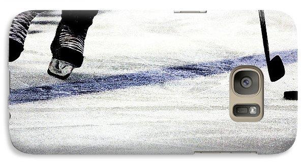 He Skates Galaxy Case by Karol Livote
