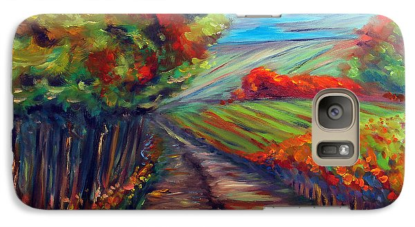 Galaxy Case featuring the painting He Walks With Me by Meaghan Troup