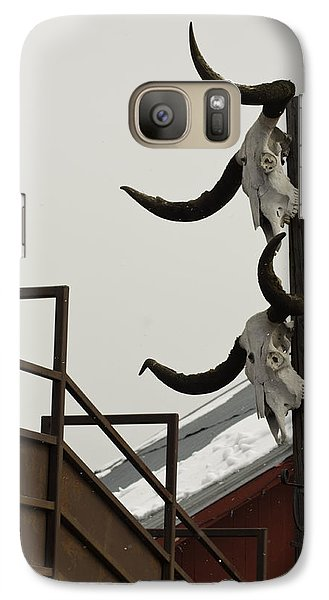 Galaxy Case featuring the photograph Head Em Up N Move Em Out by Daniel Hebard