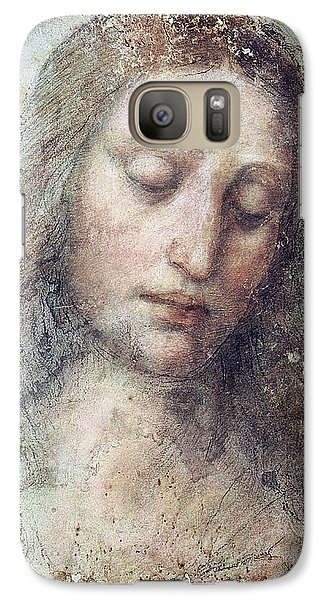 Galaxy Case featuring the drawing Head Of Christ Restoration Art Work by Karon Melillo DeVega