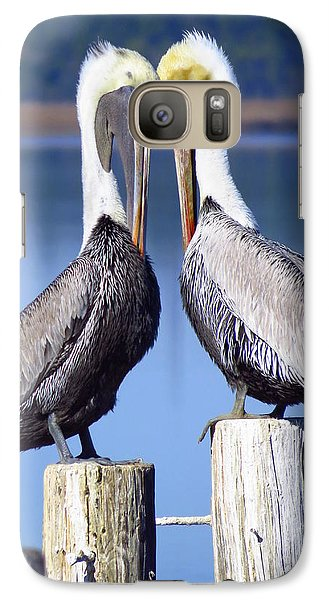 Galaxy Case featuring the photograph Head To Head by Phyllis Beiser