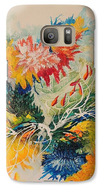 Galaxy Case featuring the painting Heading Down #1 by Lyn Olsen
