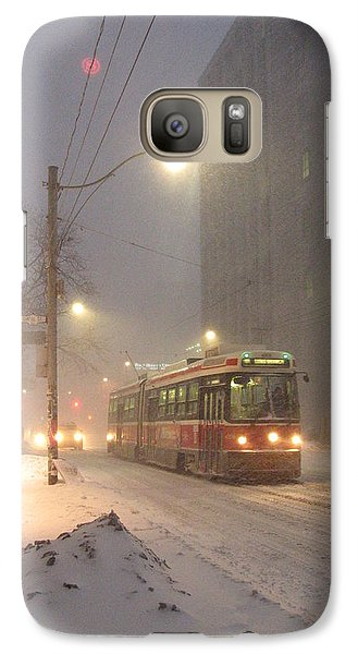 Galaxy Case featuring the photograph Heading Home In The Snowstorm by Alfred Ng