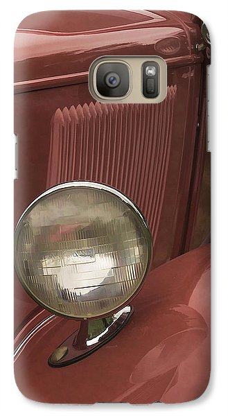 Galaxy Case featuring the photograph Headlights by Wayne Meyer