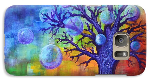 Galaxy Case featuring the painting Healing Bubbles by Agata Lindquist