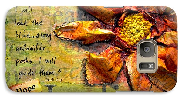 Galaxy Case featuring the painting Healing From Isaiah 42 by Lisa Fiedler Jaworski