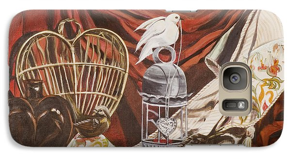 Galaxy Case featuring the painting Healing Heart by Susan Culver