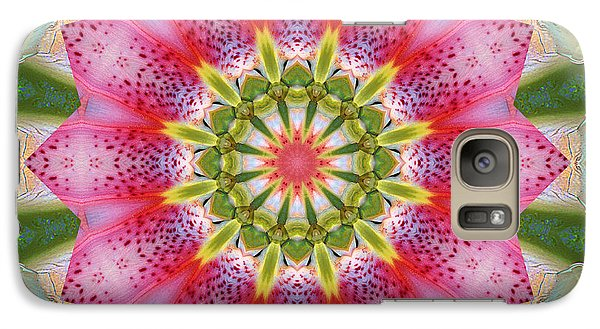 Galaxy Case featuring the photograph Healing Mandala 25 by Bell And Todd