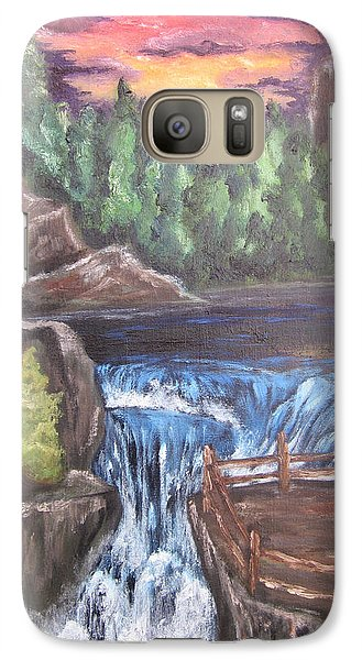 Galaxy Case featuring the painting Hear The Music by Cheryl Pettigrew