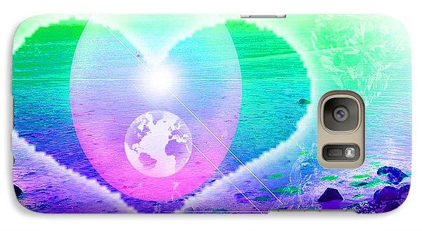 Galaxy Case featuring the digital art Heart Beach by Ute Posegga-Rudel