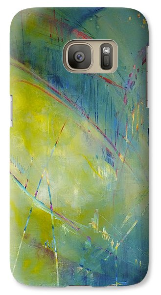 Galaxy Case featuring the painting Heart Beat by Eleatta Diver