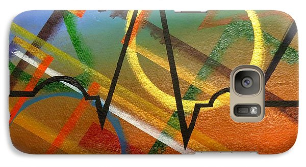 Galaxy Case featuring the painting Heart Beat by Ken Frischkorn