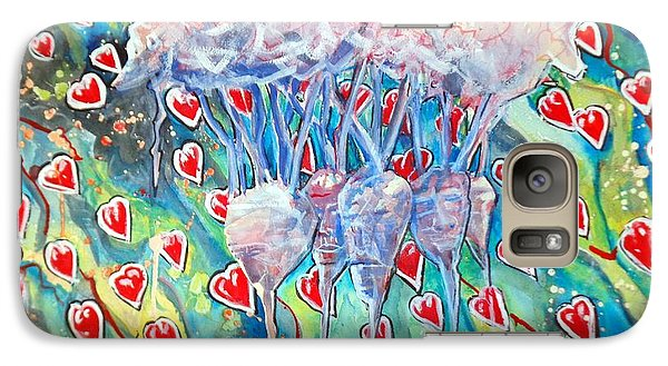 Galaxy Case featuring the painting Heart Beets2 by Steven Holder