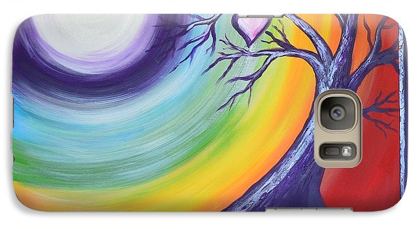 Galaxy Case featuring the painting Heart Chakra Meditation by Agata Lindquist