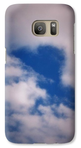 Galaxy Case featuring the photograph Heart In The Clouds by Tara Potts