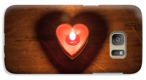 Galaxy Case featuring the photograph Heart Light by Aaron Aldrich