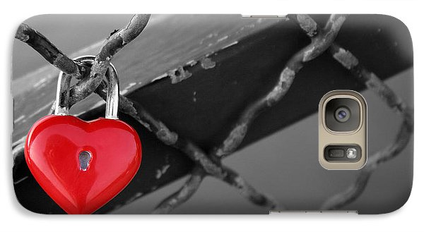 Galaxy Case featuring the photograph Heart Lock by Lisa Parrish