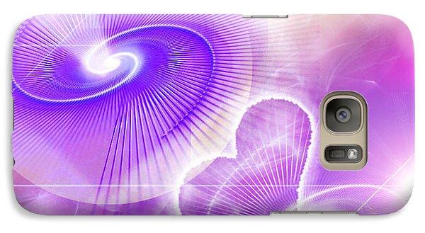 Galaxy Case featuring the digital art Heart Magic by Ute Posegga-Rudel