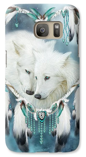 Heart Of A Wolf Galaxy S7 Case by Carol Cavalaris
