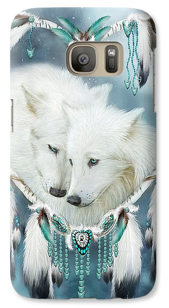 Heart Of A Wolf Galaxy Case by Carol Cavalaris