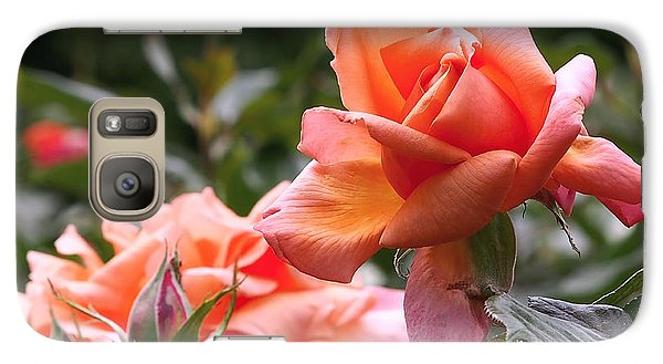 Heart Of Gold Roses Galaxy Case by Rona Black