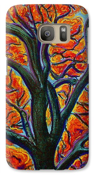 Galaxy Case featuring the painting Heart Of It All by D Renee Wilson