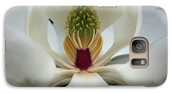Galaxy Case featuring the photograph Heart Of The Magnolia by Andy Lawless