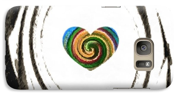 Galaxy Case featuring the digital art Heart Within by Catherine Lott