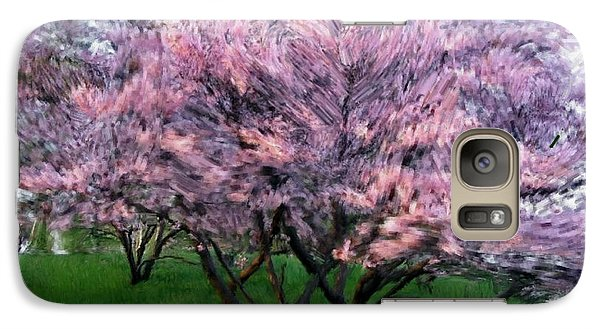 Galaxy Case featuring the painting Heartfelt Cherry Blossoms by Bruce Nutting