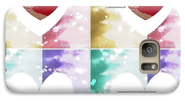 Galaxy Case featuring the digital art Heartful by Ann Calvo